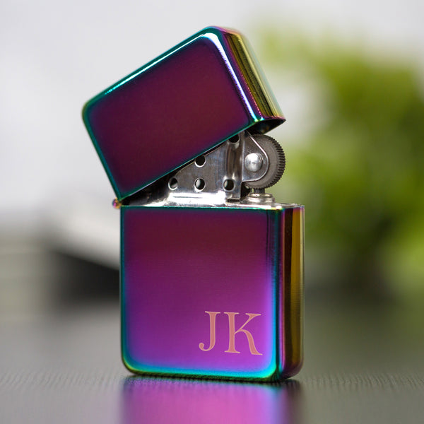 Personalised Initials Rainbow Lighter & Gift Box