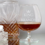Personalised King Of Brandy Glass