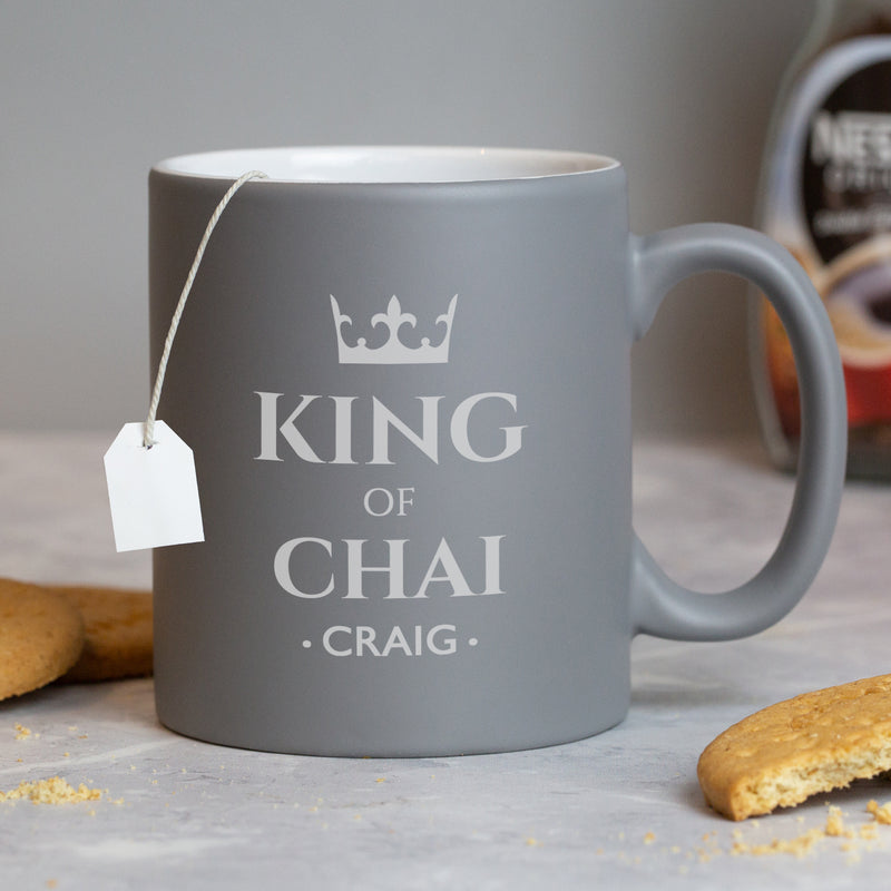 Personalised King Of Grey Mug