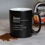 Personalised Name Definition Black Mug