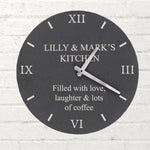Personalised Any Message Slate Clock