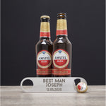 Personalised Best Man Silver Bar Blade Bottle Opener