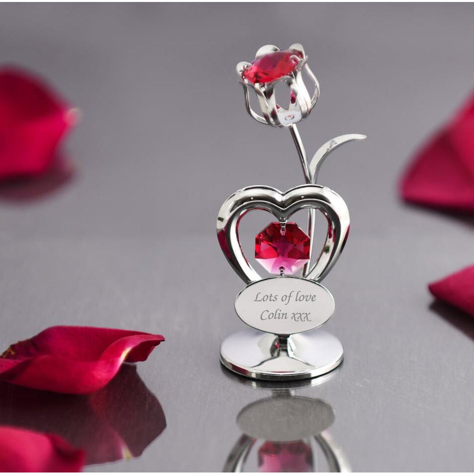 Personalised Crystocraft Tulip Ornament