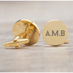 Personalised Gold Plated Circle Initials Cufflinks