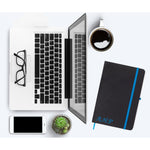 Personalised Initials Blue PU Leather Notebook