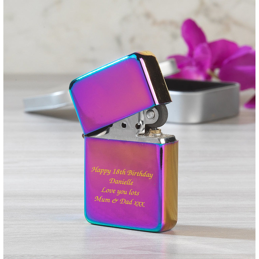 Personalised Message Rainbow Lighter & Gift Box