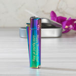 Personalised Rainbow Clipper Lighter