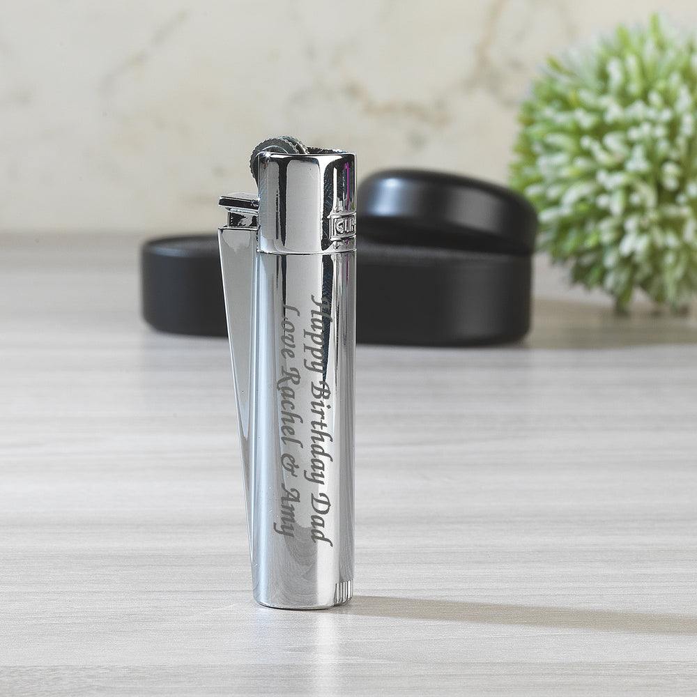 Personalised Silver Clipper Lighter