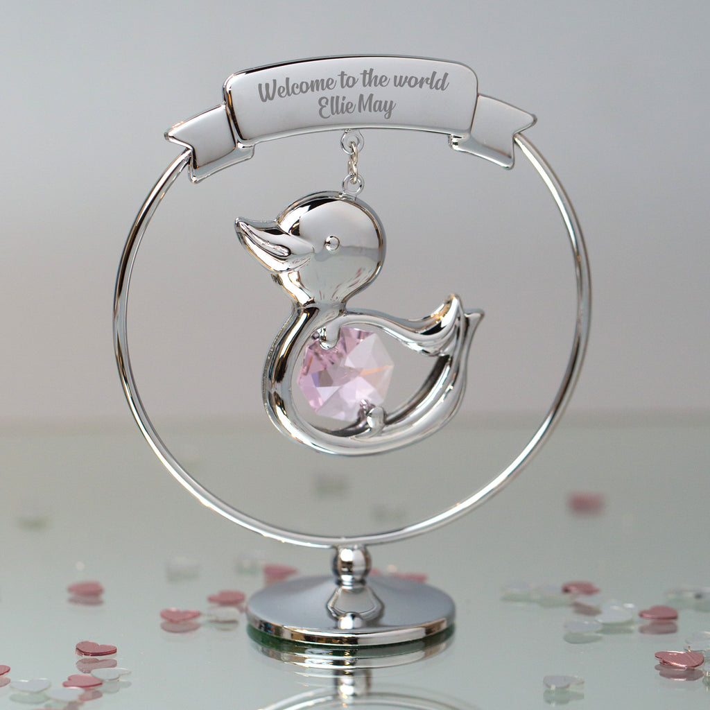 Personalised Crystocraft Duck Ornament