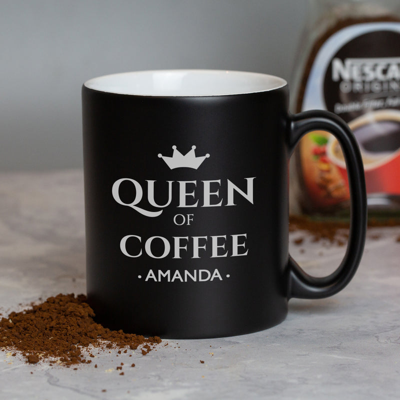 Personalised Queen Of Black Mug