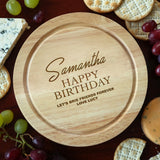 Personalised Birthday Cheese Board And Knives Set