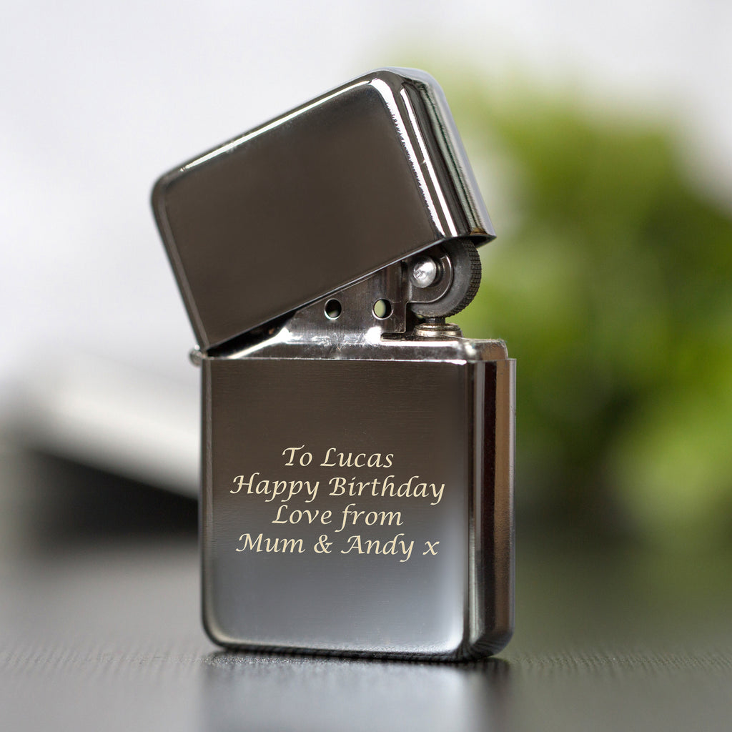 Personalised Message Silver Lighter & Gift Box