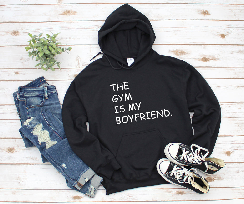 The Gym Is My Boyfriend Black Hoodie
