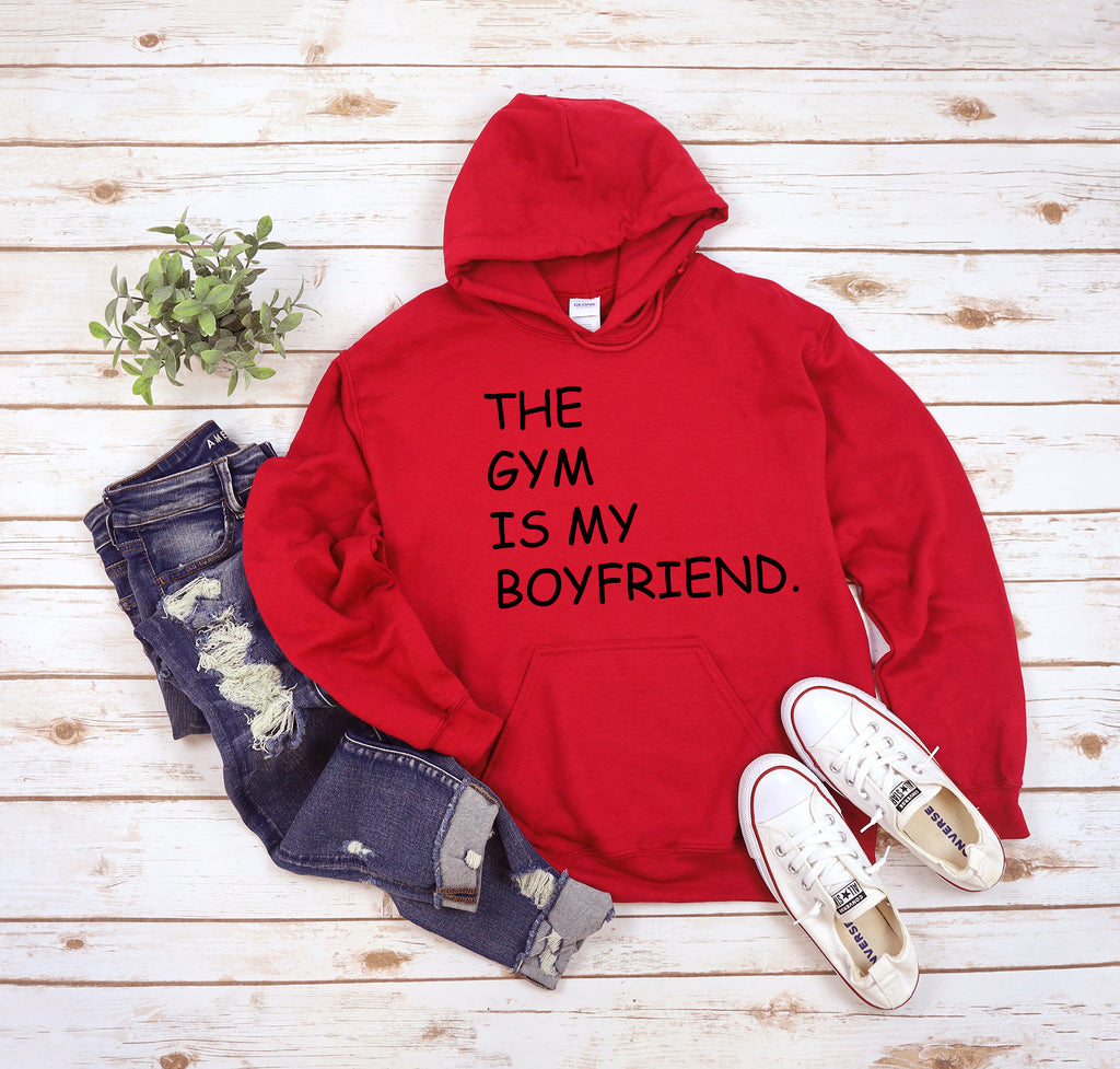 The Gym Is My Boyfriend Red Hoodie