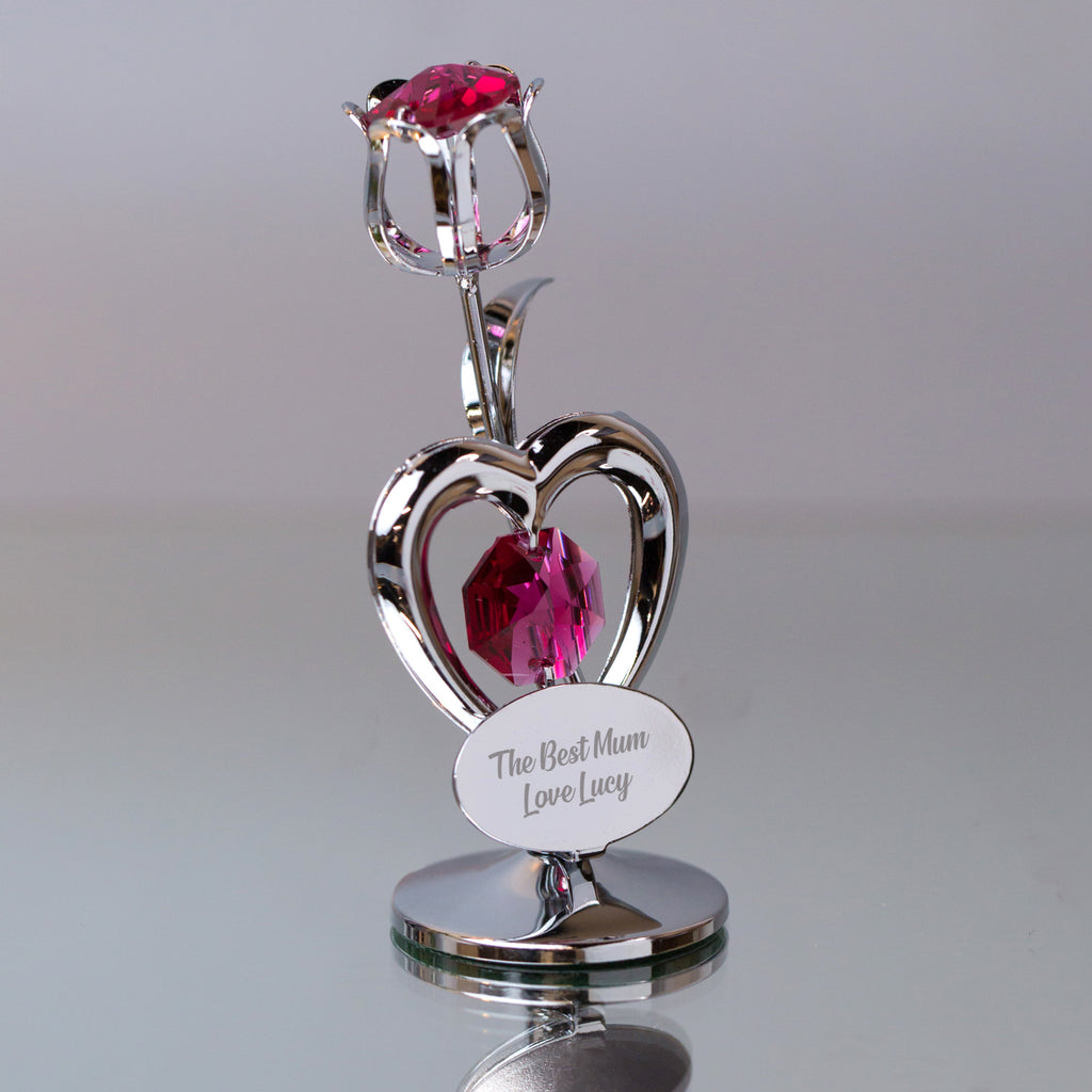 Personalised Crystocraft Tulip Ruby Ornament