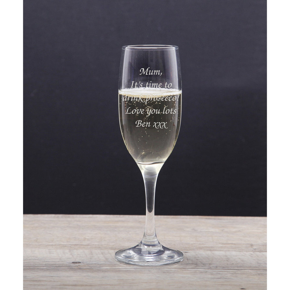 Personalised Any Message Champagne Flute