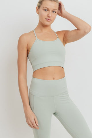 Jade Braided Back Sports Bra