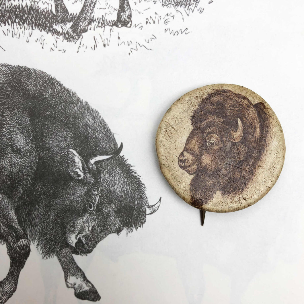 Old Bison Pin