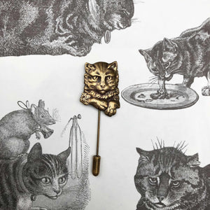 Sourpuss Cat Pin