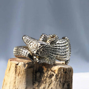 Silver Croc Cuff RESERVED for Kris
