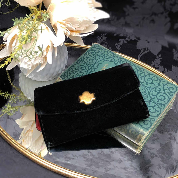 Midnight Black Velvet Clutch