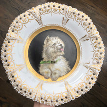 Victorian Painted Dog Plate