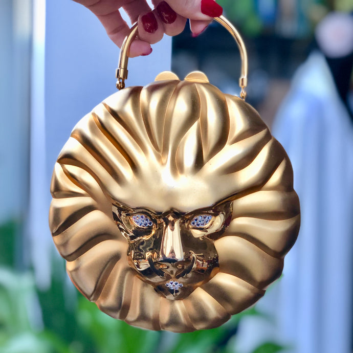 Gilt Lion Bag