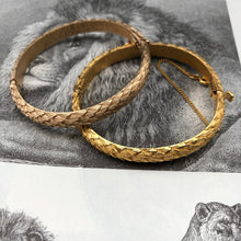 Textured Snakeskin Bangle