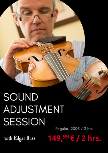 Sound Adjustment Session with Edgar Russ