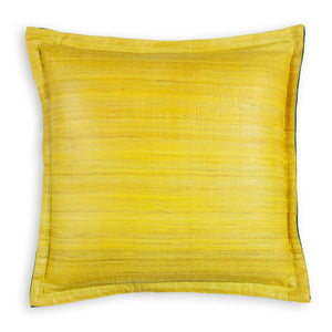 Fiesty Yellow Tussar - 16x16