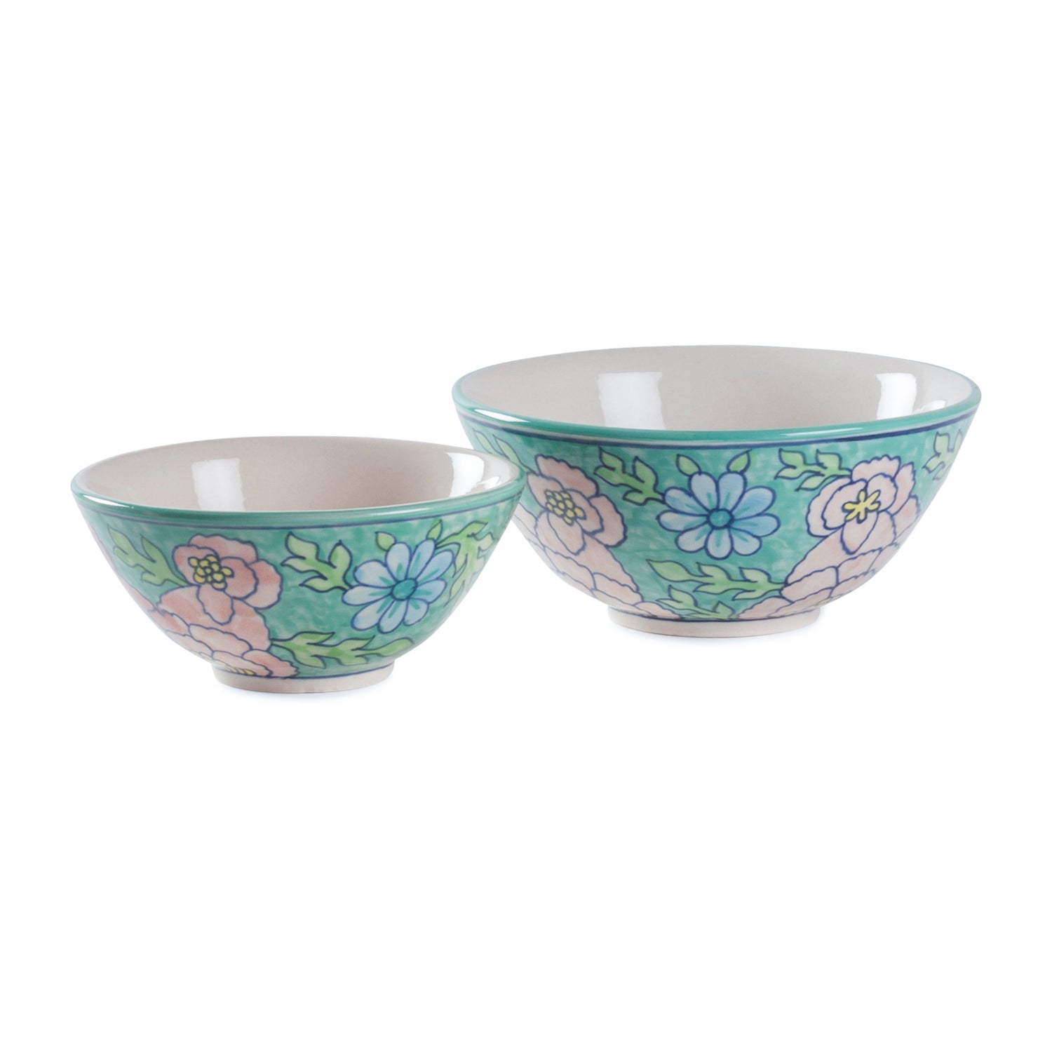 Handpainted Serving Bowl Set of 2