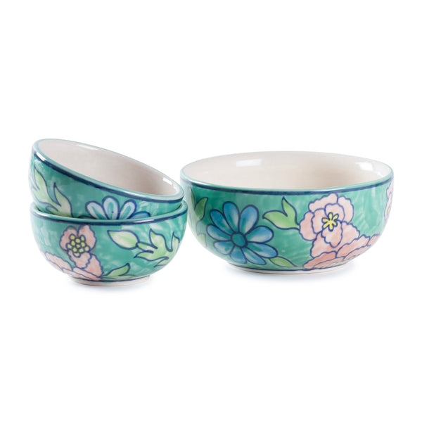 Hand Painted Ceramic Katori 2x4 - Set of 2