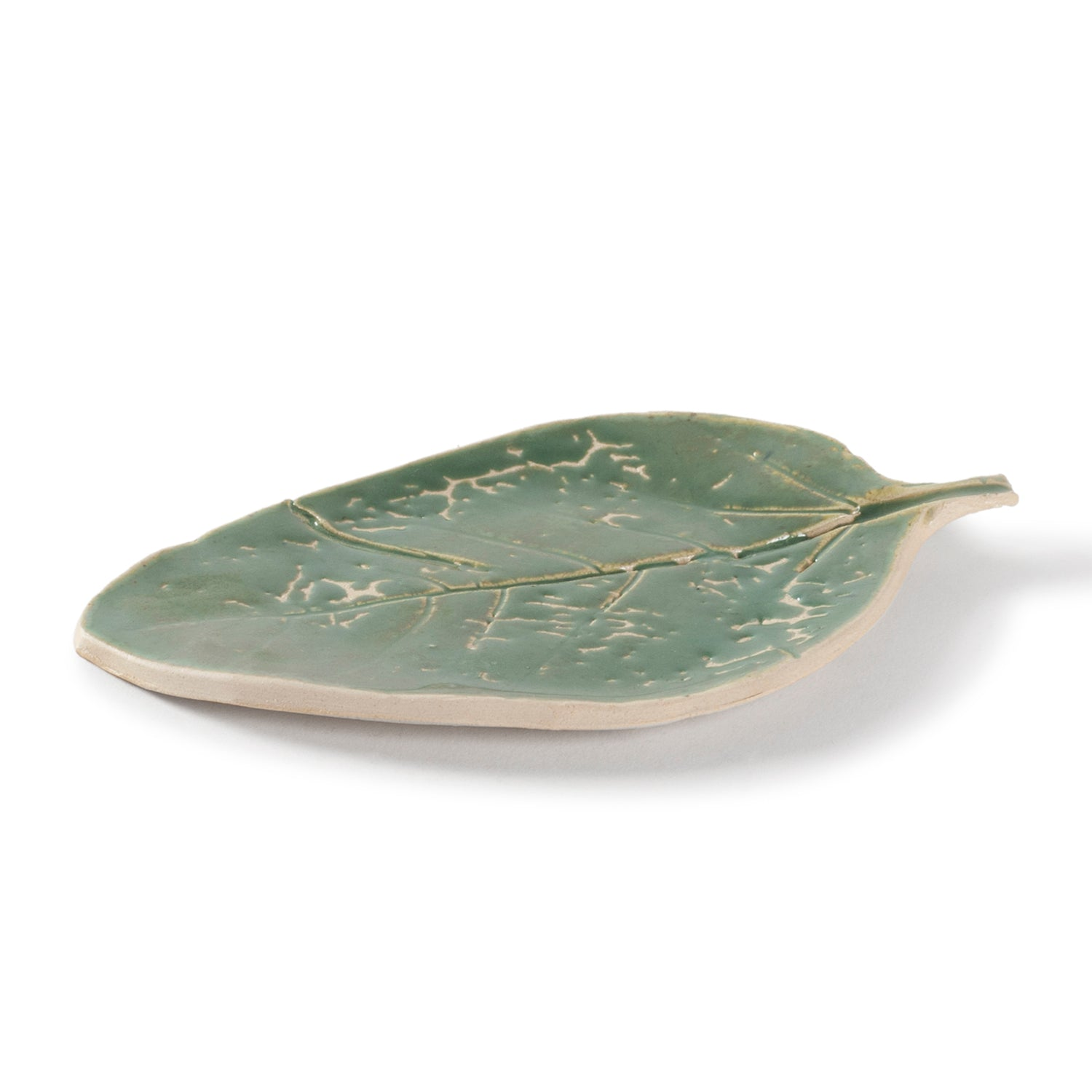 Stoneware Clay Leaf Platter 8x5 Single Pc