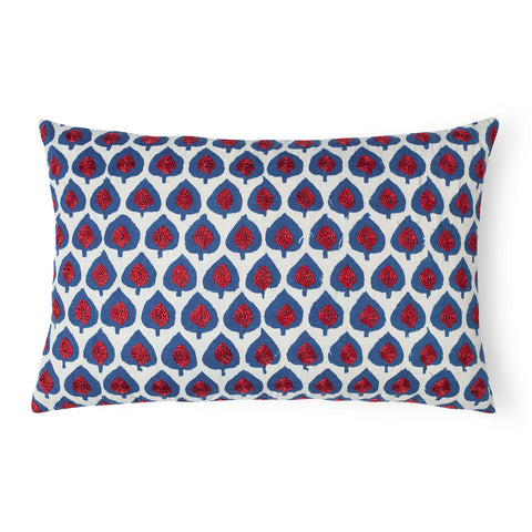 Hand Embroidered Dabu Cushion - 12x18