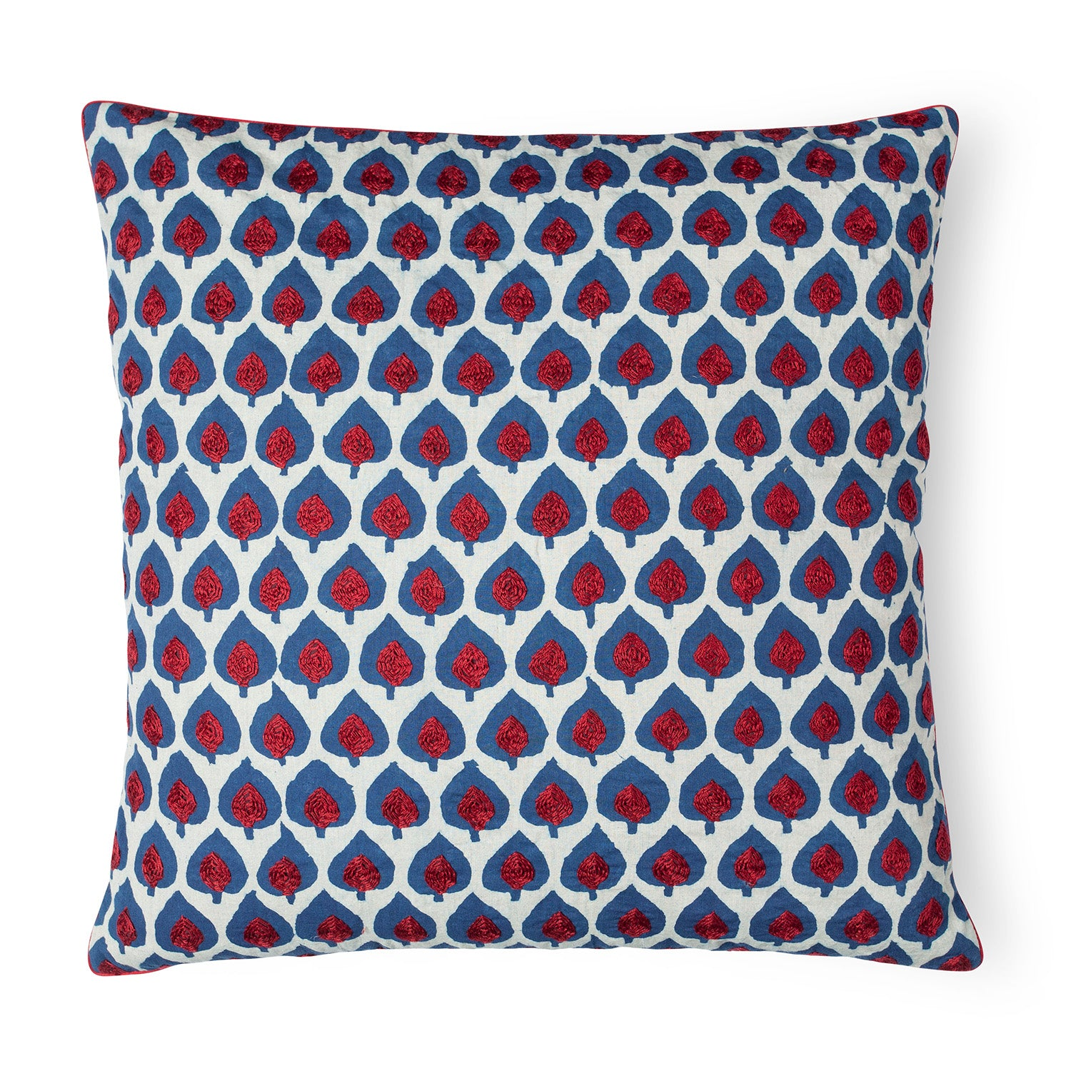 Dabu Cushion Cover Hand Embroidered 18x18