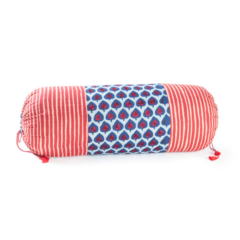 Dabu Bolster Cover Hand Embroidered 14x30