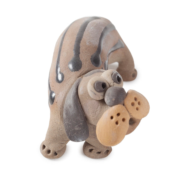 Miniature Clay Dog 3x2