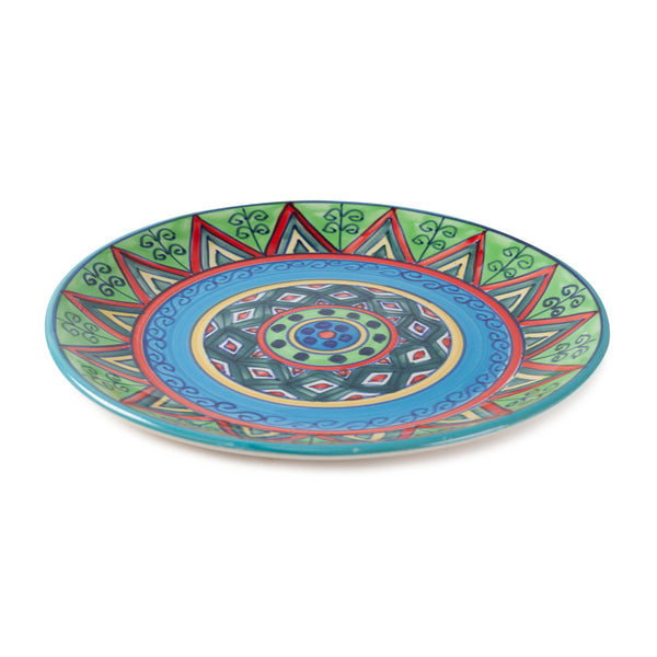 Hand Painted Ceramic Dinner Plate - 10""