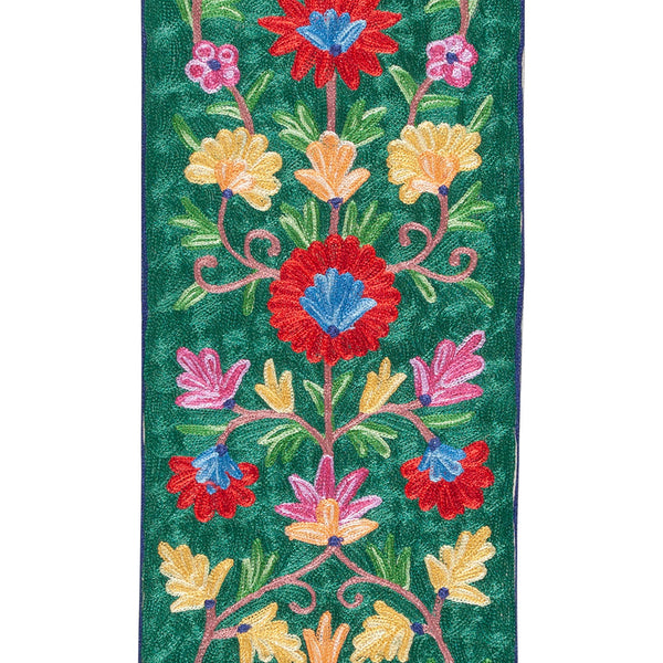Crewel Embroidery Silk Runner - 1x6 Single PC