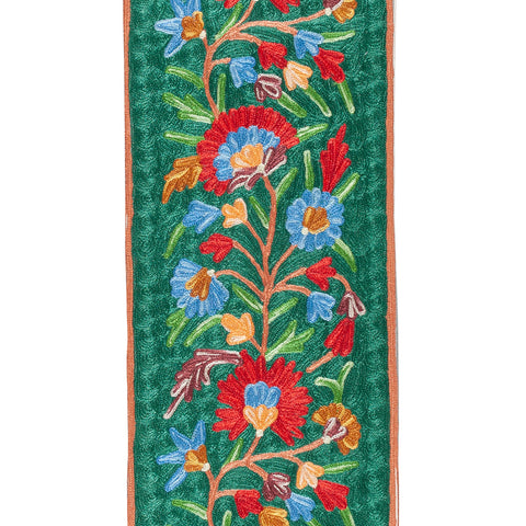 Crewel Embroidery Silk Runner - 1x5 Single PC