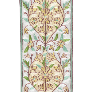 Crewel Embroidery Silk Runner - 1x4 Single PC