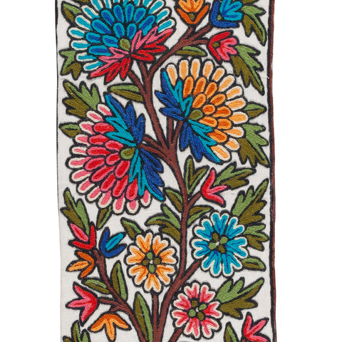 Crewel Embroidery Wool Runner - 1x4 Single PC