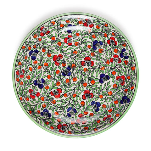 Hand Painted Ceramic Charger Plate - 13""