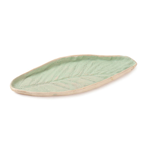 Stoneware Clay Leaf Platter 8x4 Single PC