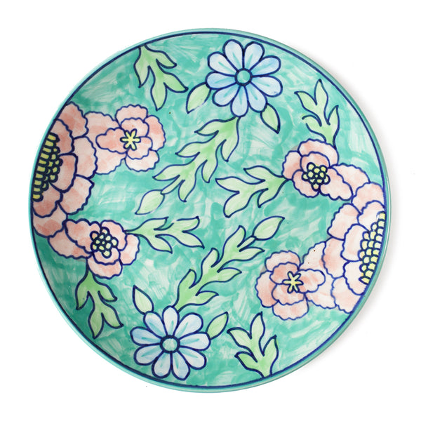 Handpainted Ceramic Dinner Plate - Set of 2