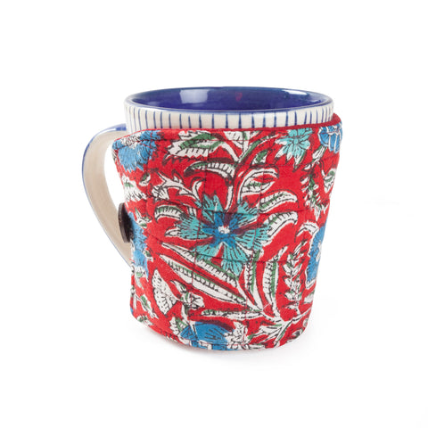 Block Printed Mug Warmers 8x4""