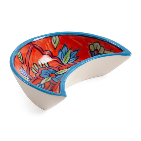 Handpainted Ceramic Snack Bowl - Set of 2