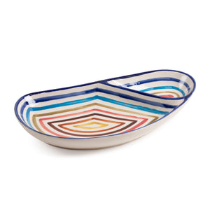Hand Painted Ceramic Platter - 10x5""