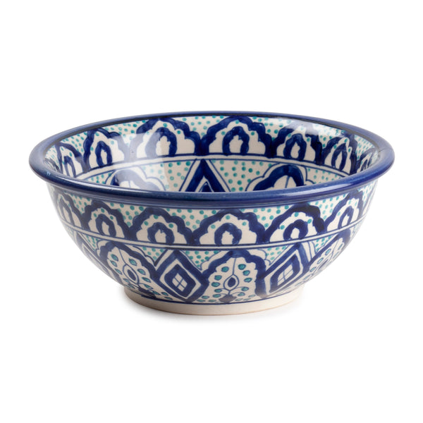 Hand Painted Ceramic Bowl - 10x4