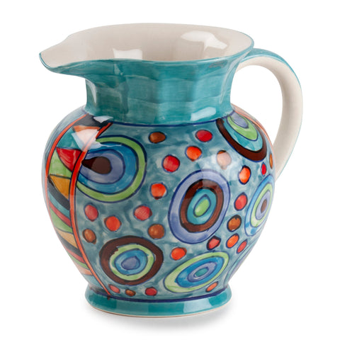 Turq Circles Pitcher